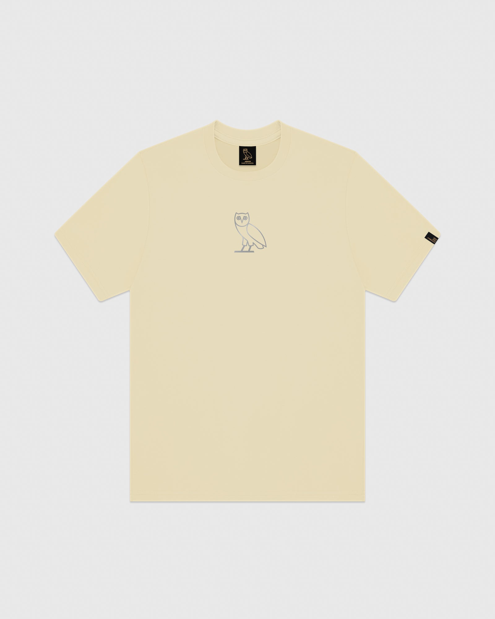 REFLECTIVE CLASSIC OWL T-SHIRT - CREAM IMAGE #1
