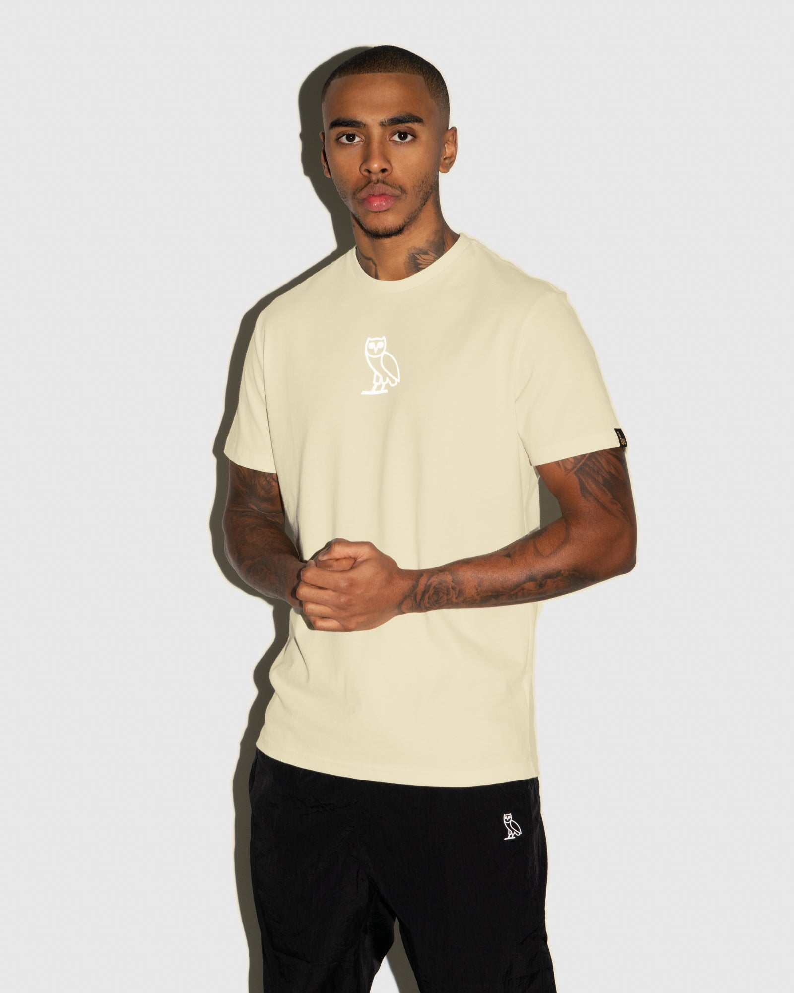 REFLECTIVE CLASSIC OWL T-SHIRT - CREAM IMAGE #2