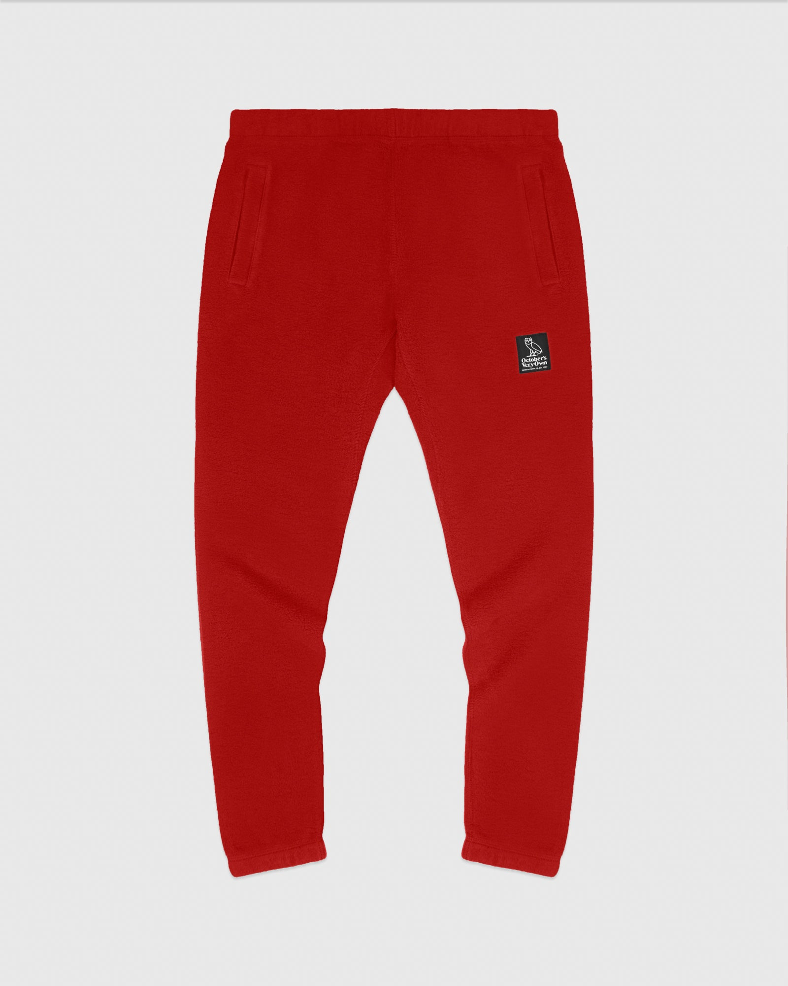 REVERSE FLEECE SWEATPANT - RED IMAGE #1