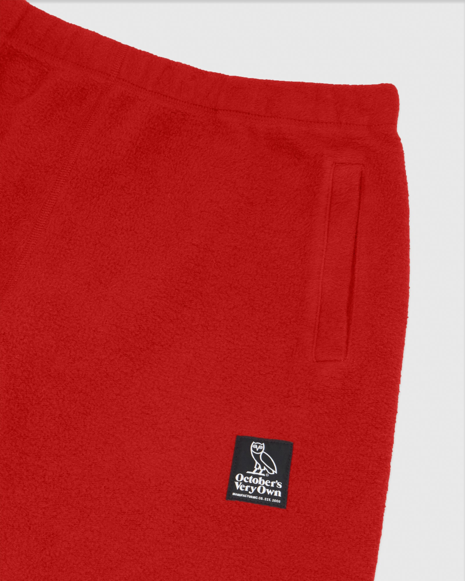 REVERSE FLEECE SWEATPANT - RED IMAGE #3