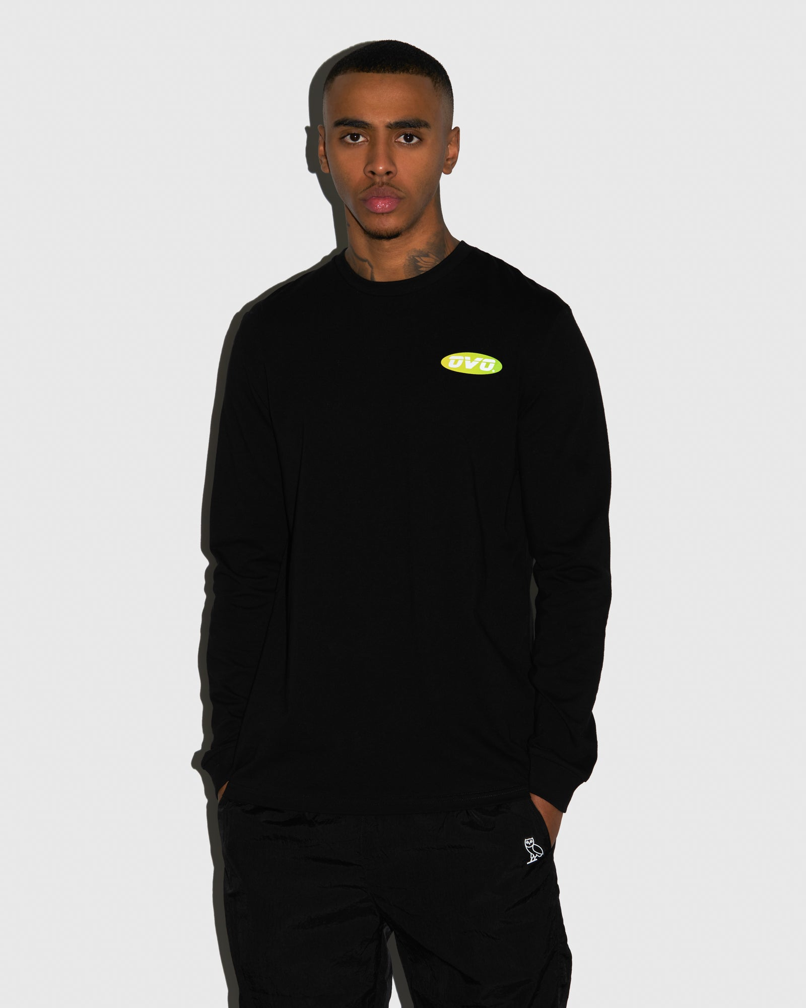 SUNSET RUNNER LONGSLEEVE T-SHIRT - BLACK IMAGE #2