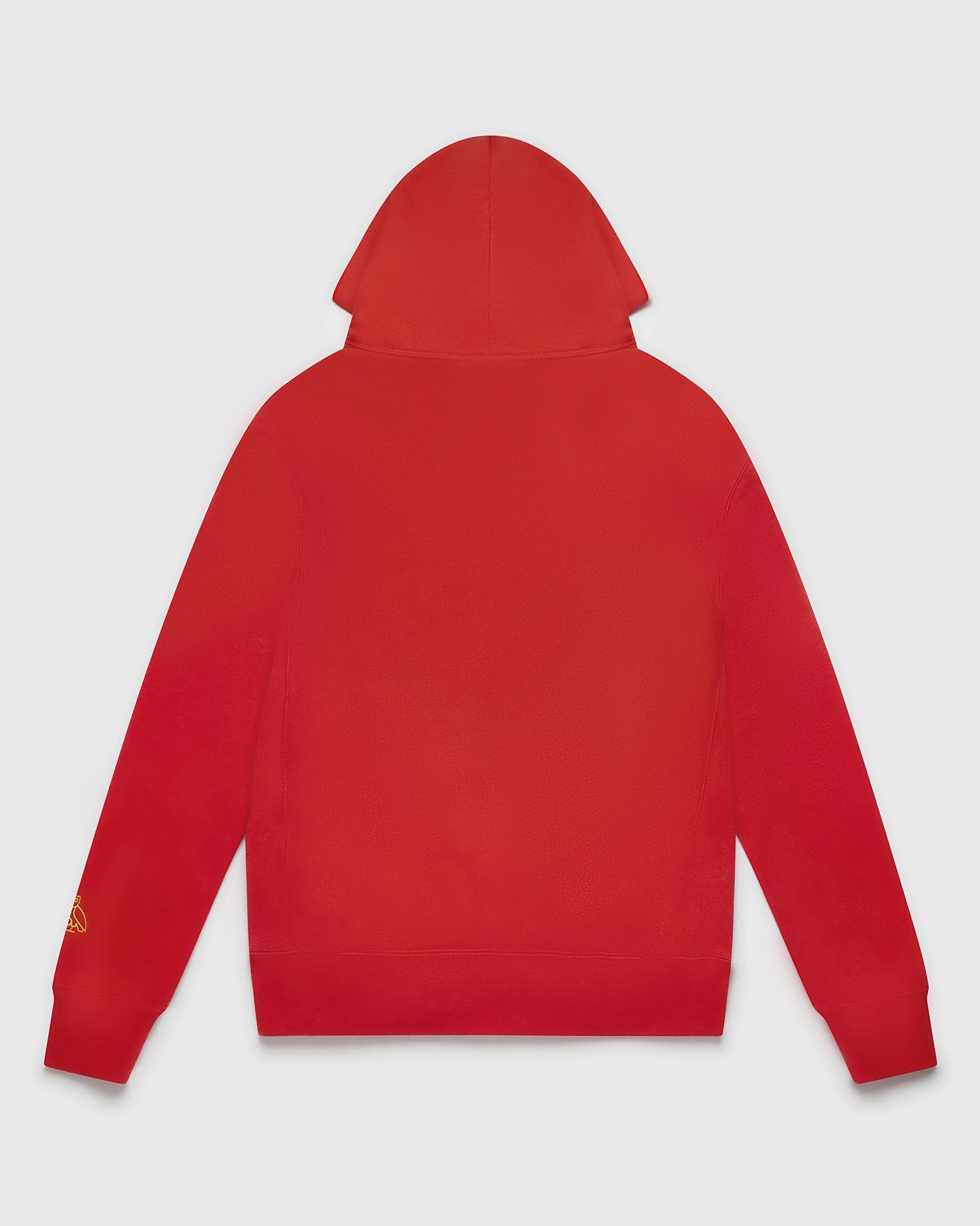 POMPOM SCRIPT HOODIE - RED IMAGE #2