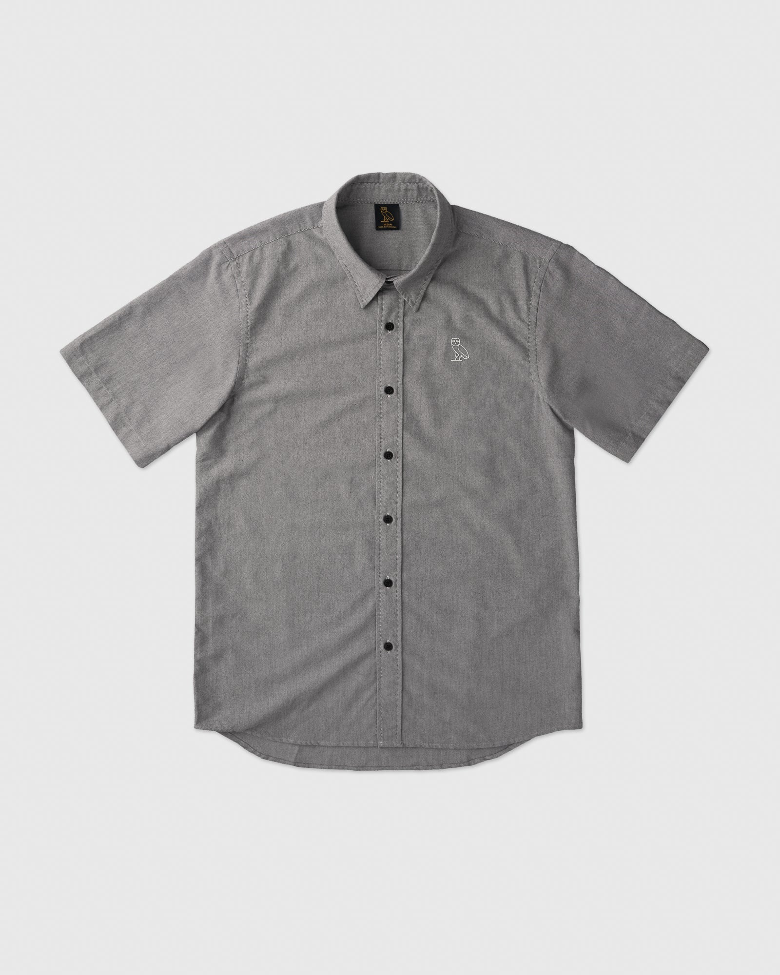 SHORT SLEEVE OXFORD SHIRT - BLACK IMAGE #1