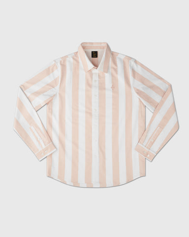 STRIPED OXFORD SHIRT - PALE PINK