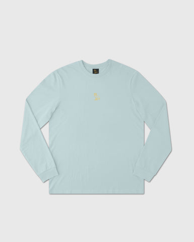 UNIVERSAL RUNNER LONGSLEEVE T-SHIRT - DUSTY BLUE