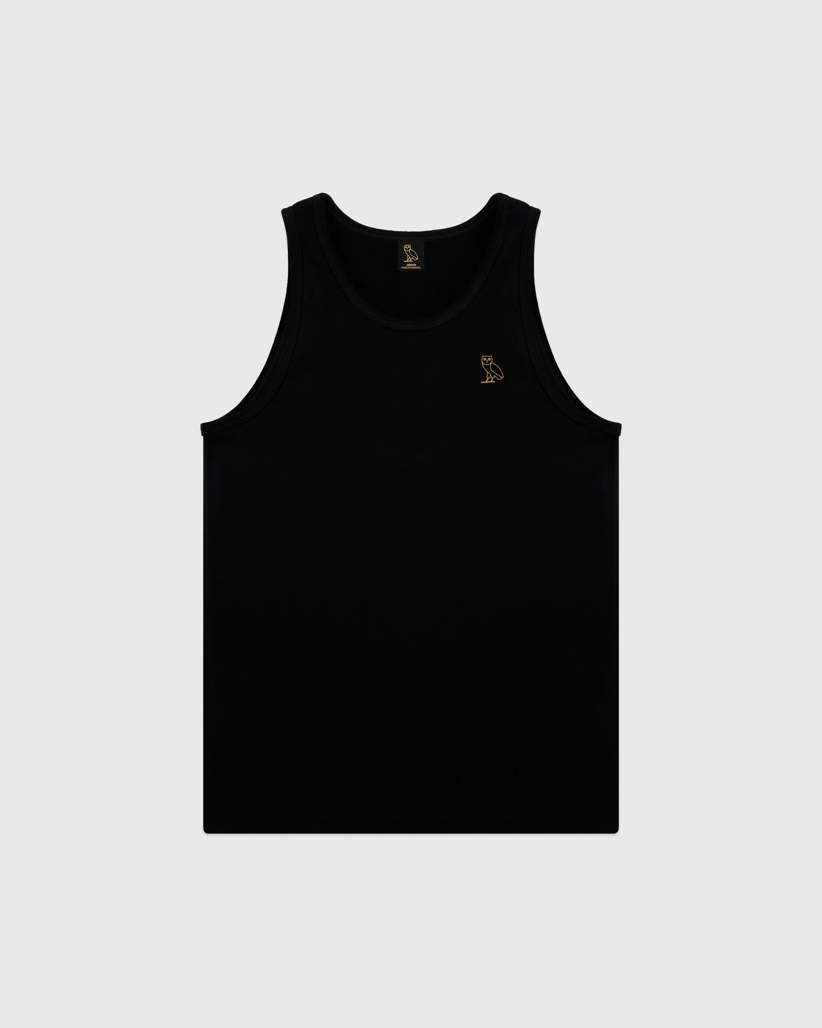 ESSENTIAL OWL TANK TOP - BLACK
