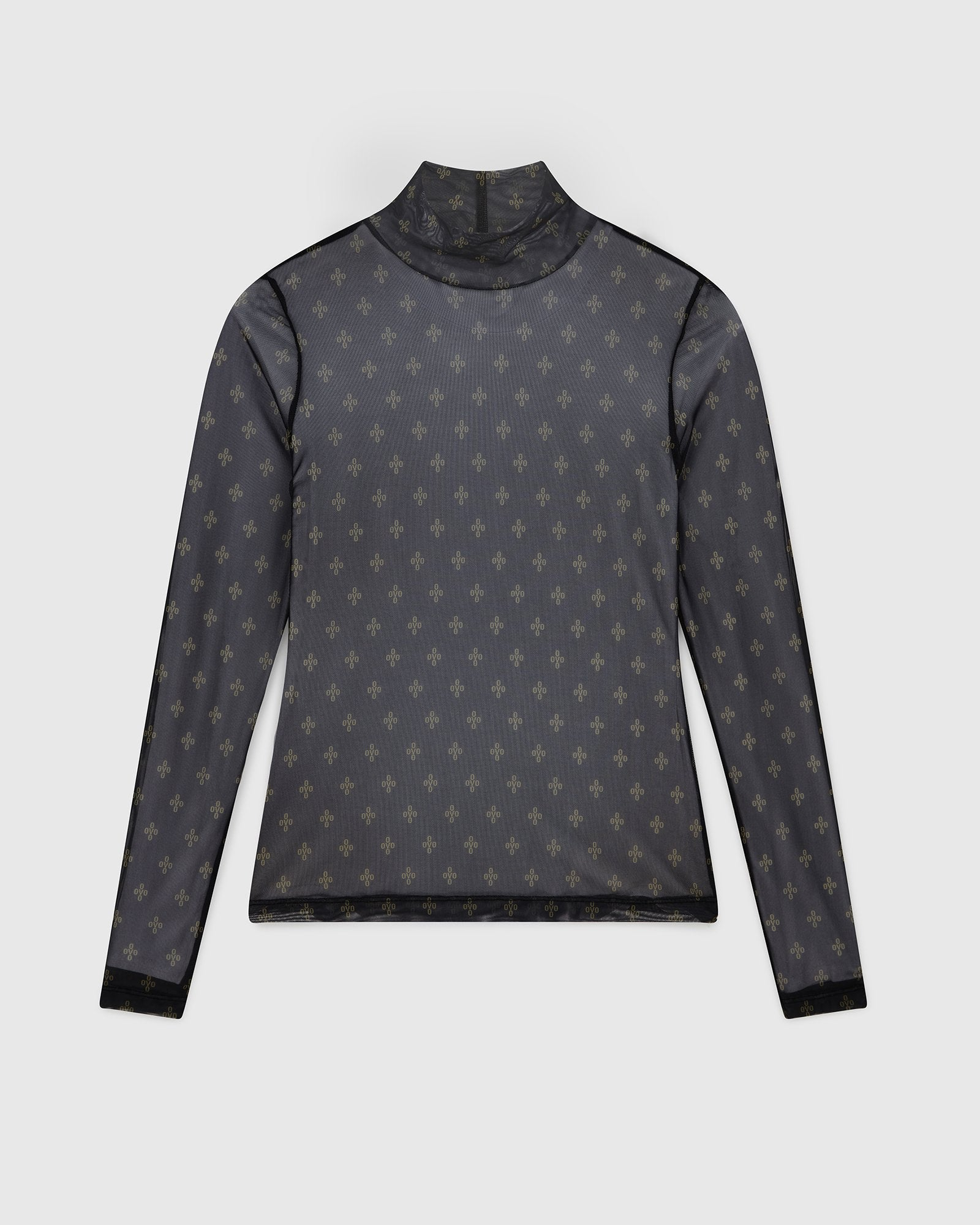 WMNS MONOGRAM MOCK NECK - BLACK IMAGE #1