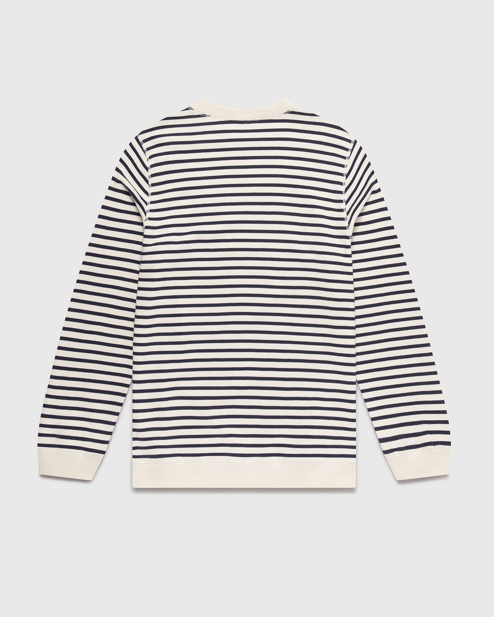 NAUTICAL STRIPE CREWNECK - NAVY/CREAM IMAGE #3