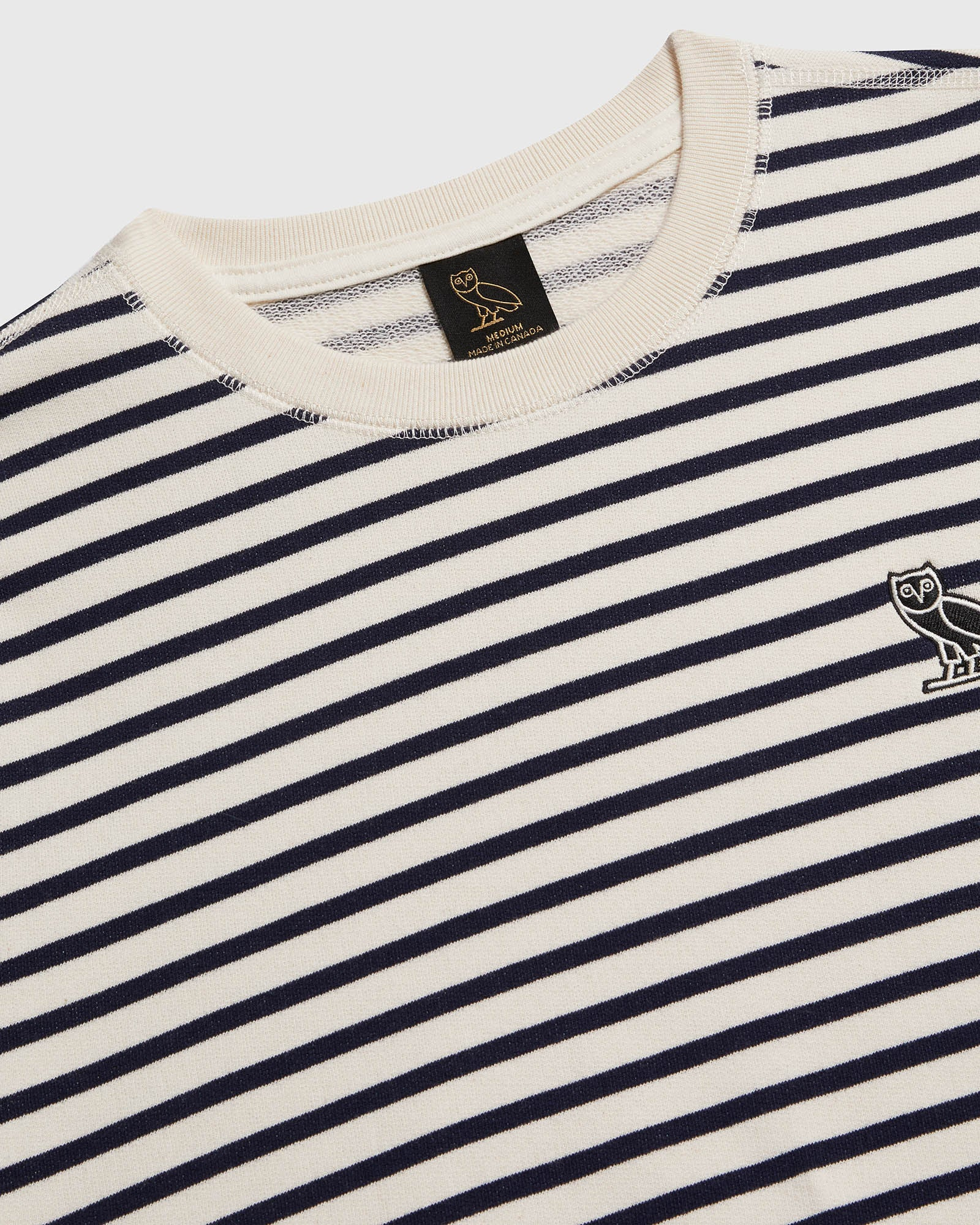 NAUTICAL STRIPE CREWNECK - NAVY/CREAM IMAGE #4