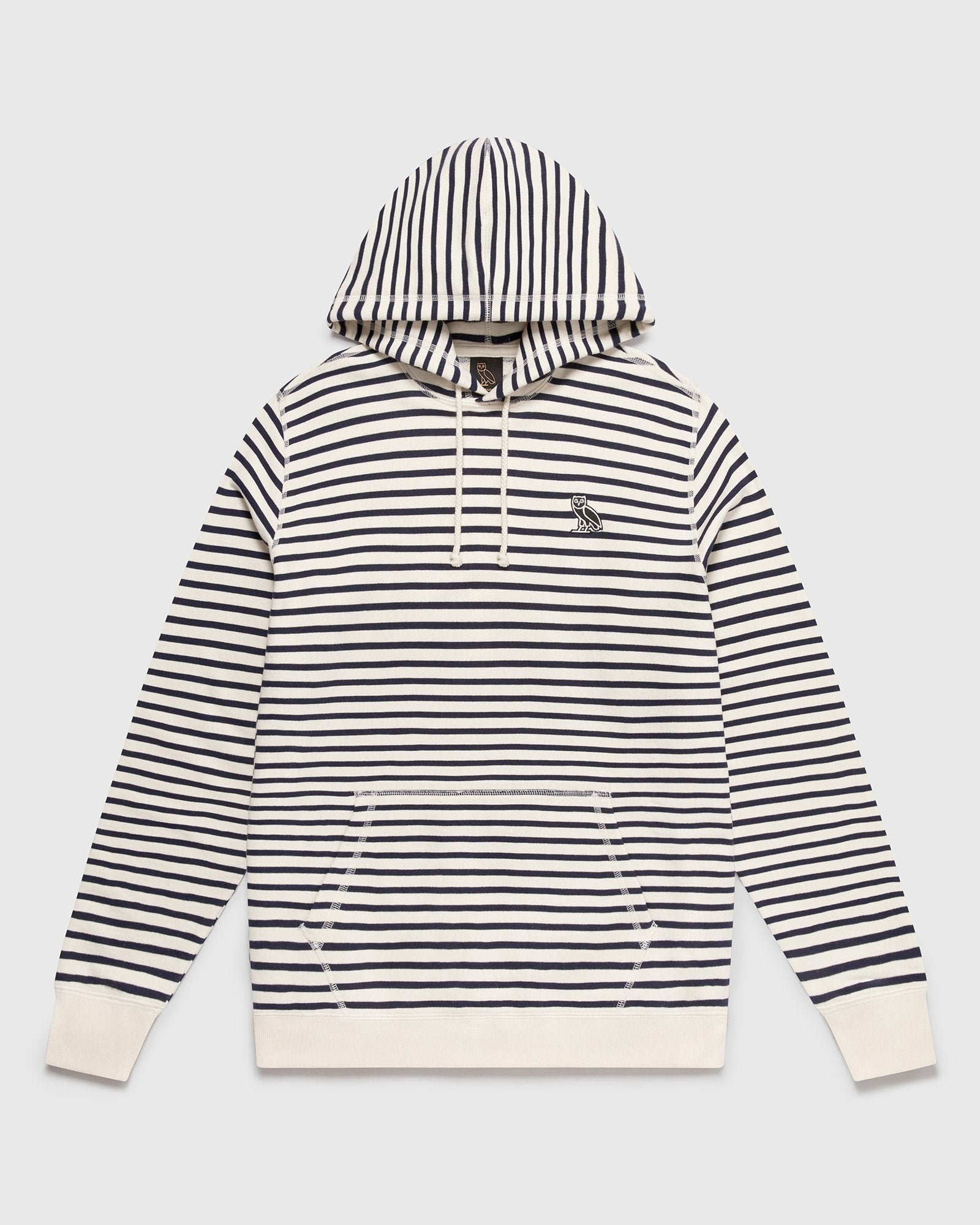 NAUTICAL STRIPE HOODIE - NAVY/CREAM IMAGE #1