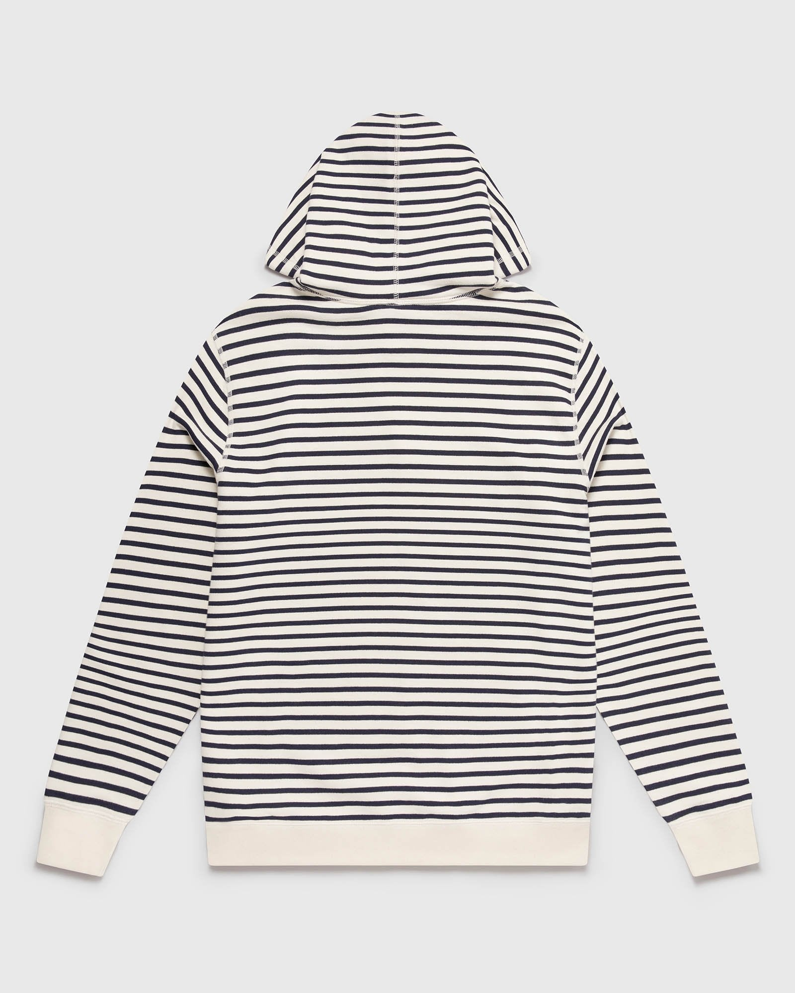 NAUTICAL STRIPE HOODIE - NAVY/CREAM IMAGE #3