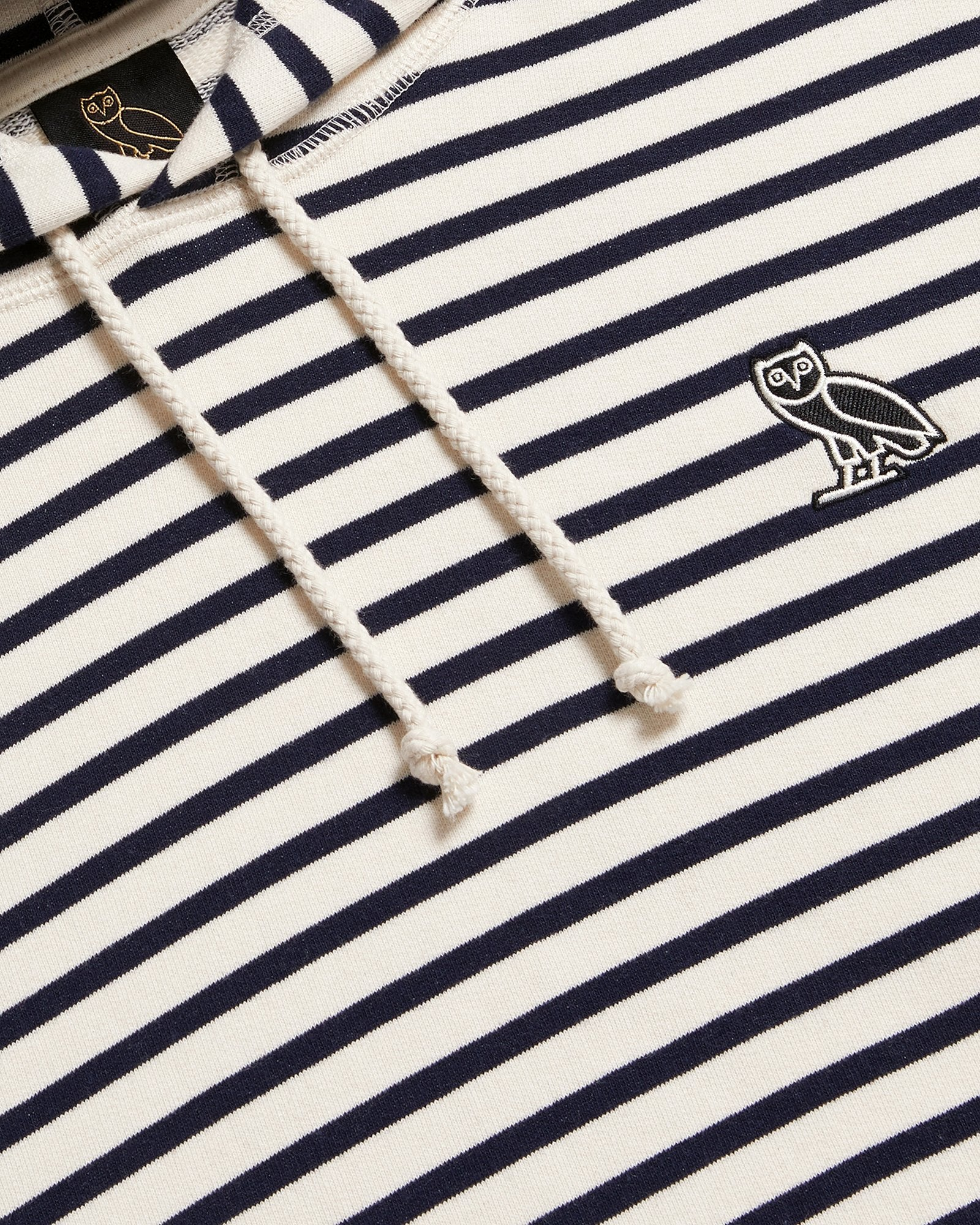 NAUTICAL STRIPE HOODIE - NAVY/CREAM IMAGE #4