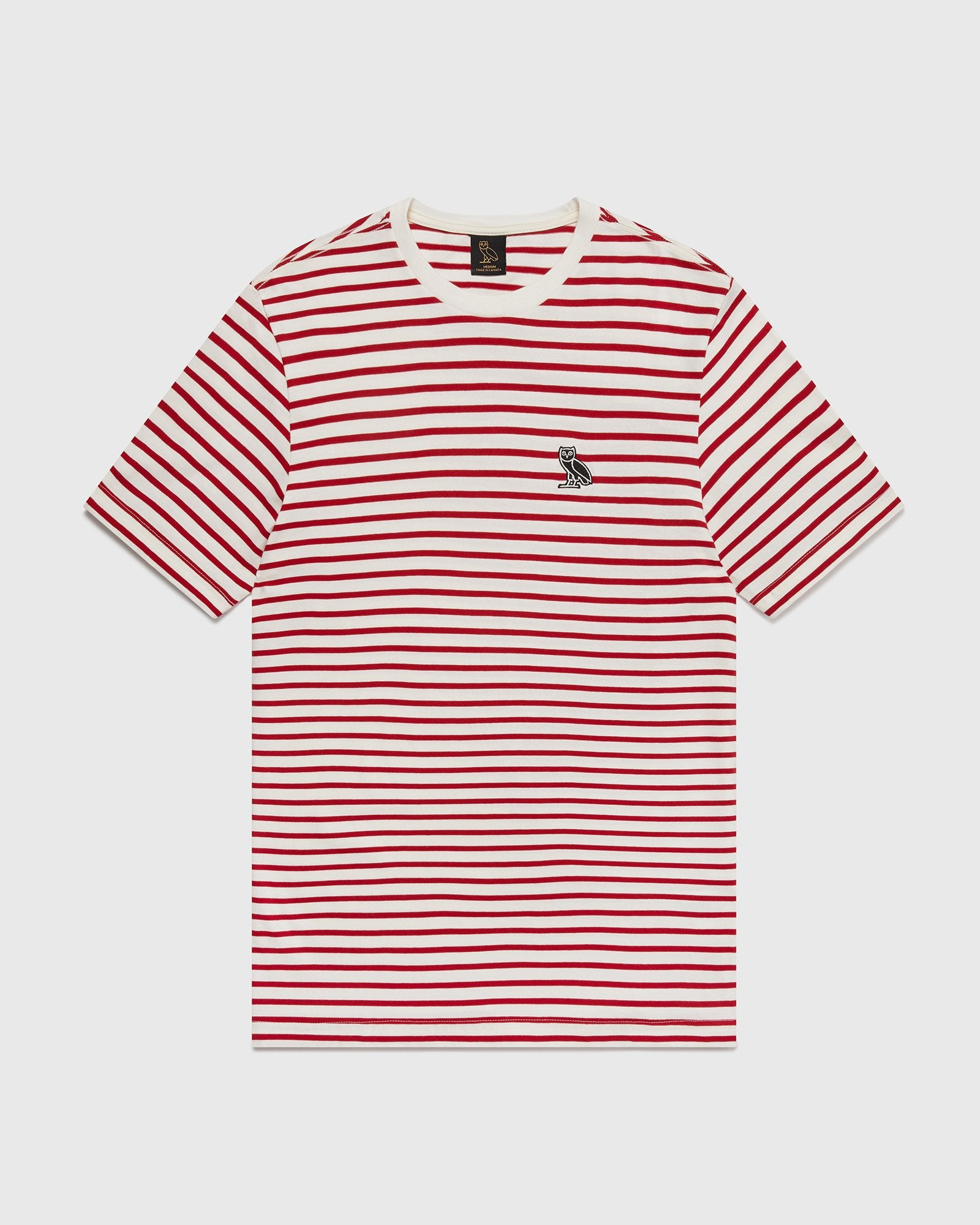 NAUTICAL STRIPE T-SHIRT - RED/CREAM IMAGE #1