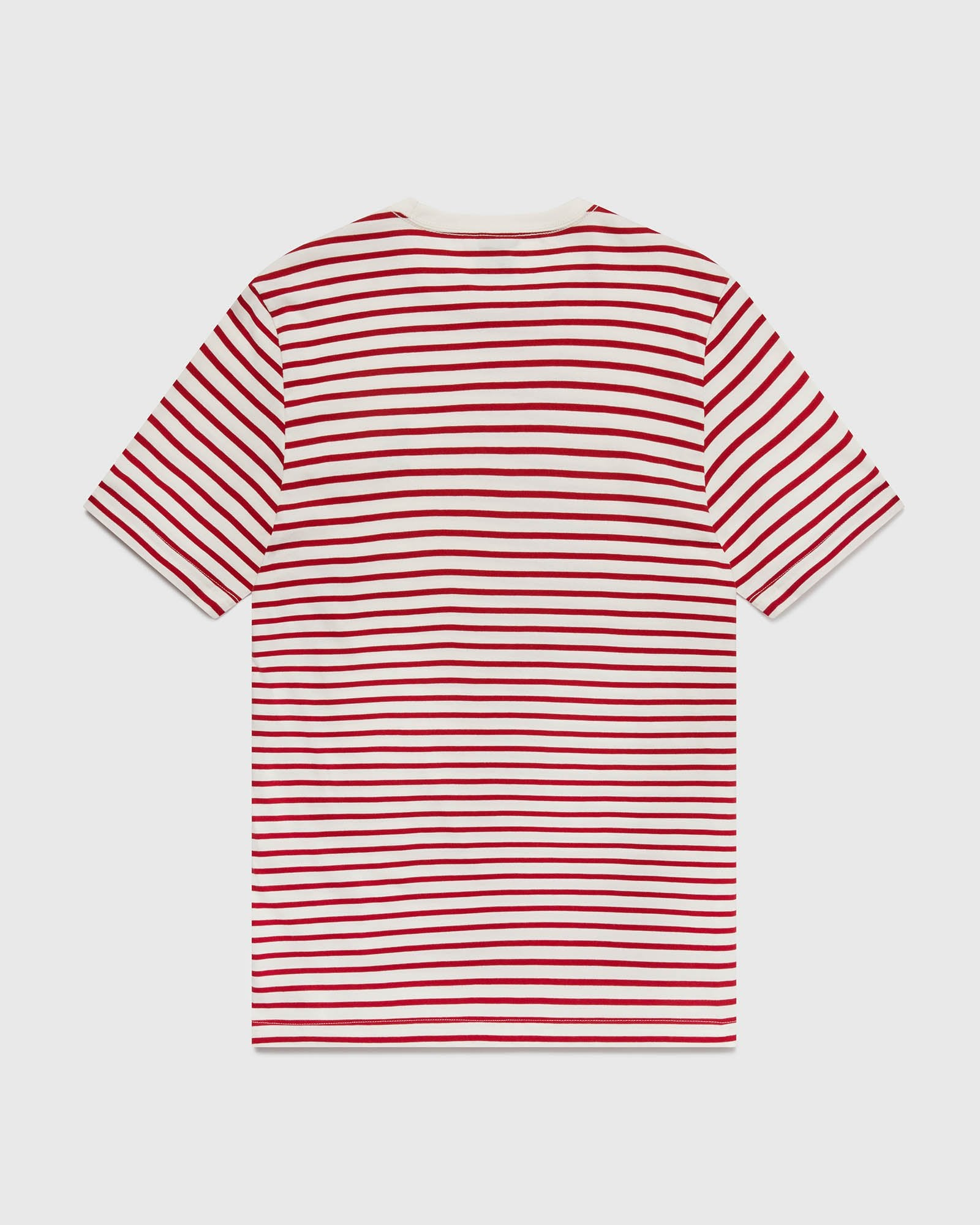 NAUTICAL STRIPE T-SHIRT - RED/CREAM IMAGE #3