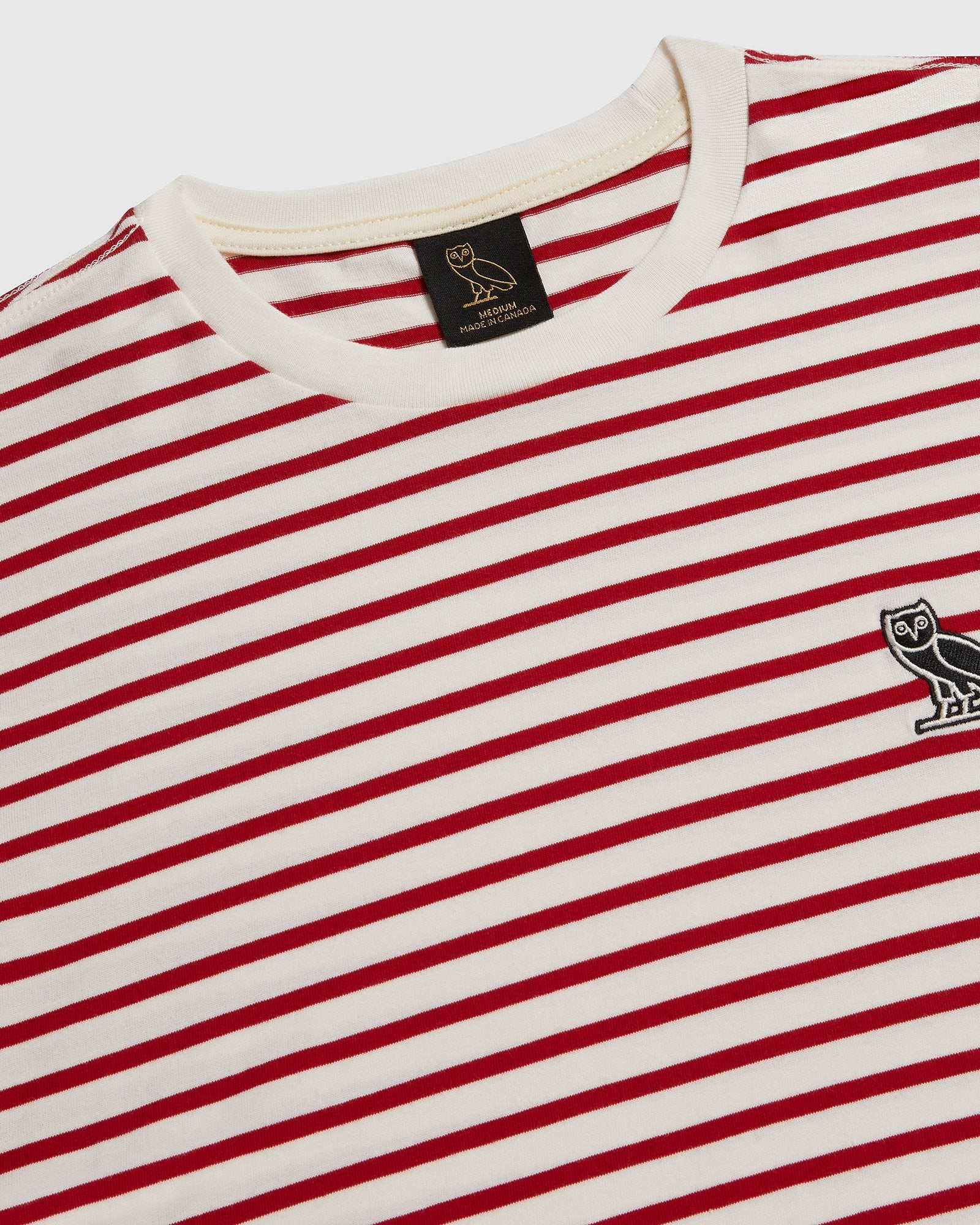 NAUTICAL STRIPE T-SHIRT - RED/CREAM IMAGE #4