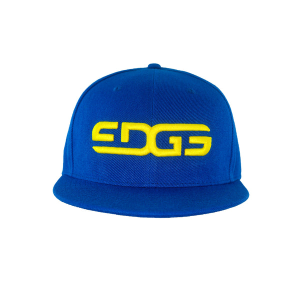 Edge Underwear Snap Back Cap in Blue and Yellow