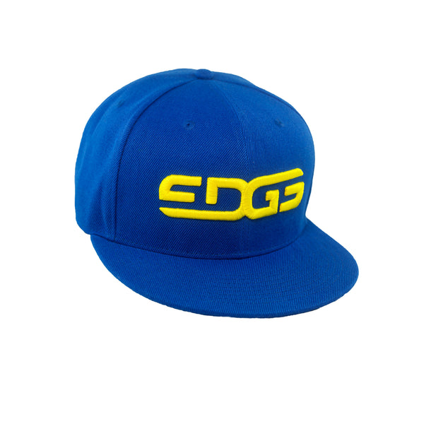 Edge Underwear Cap - Snap Back Blue and Yellow Edge Underwear Logo Cap
