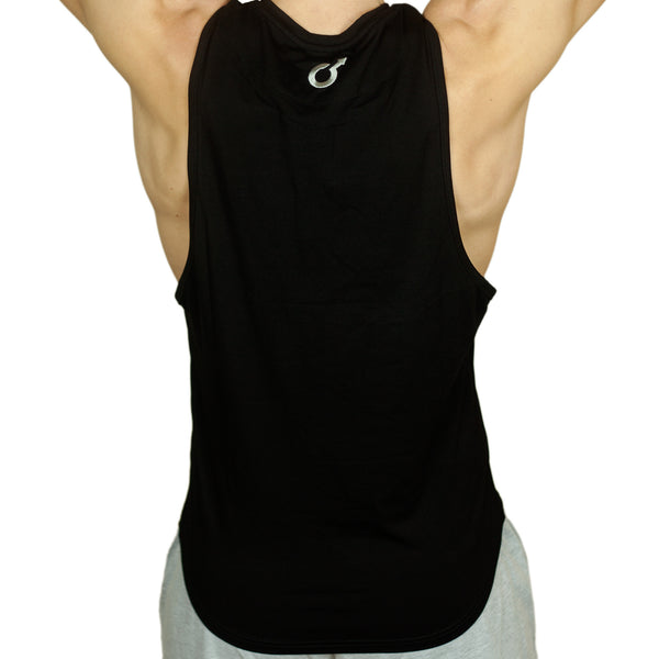 Back View of Edge Underwear Logo Tshirt Sleeveless