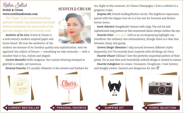 Robin Soltis of Scotch & Cream - 10 Designers to Watch in 2016 - Stationery Trends Magazine