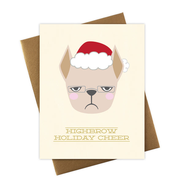 Frenchie Santa Greeting Card