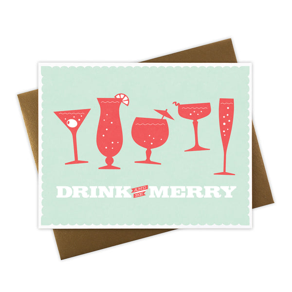 Drink and Be Merry Holiday Card