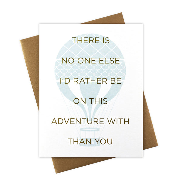 No One Else Adventure Card with Gold Foil