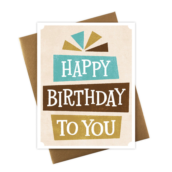 Happy Birthday To You Serif Card