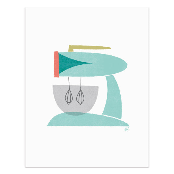 Retro Mixer Art Print