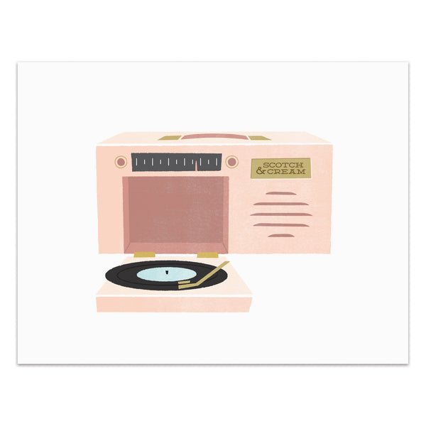 Record Player - Portable Art Print