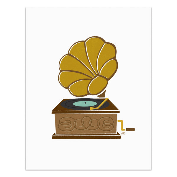 Record Player - Phonograph Art Print