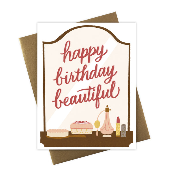 Happy Birthday Beautiful Boudoir Card