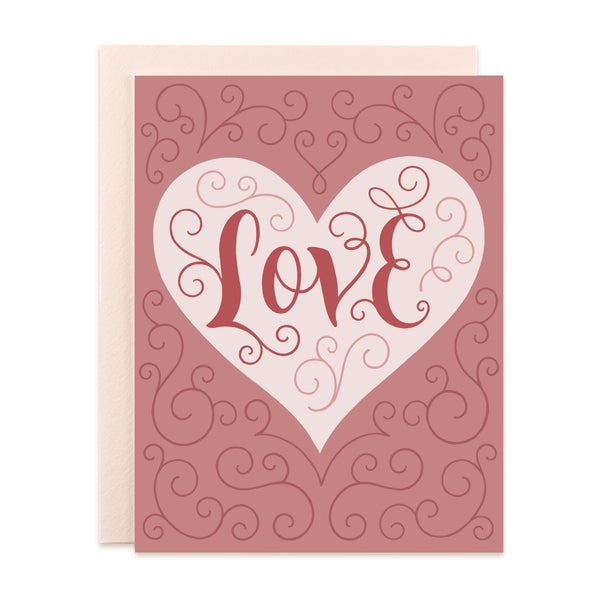 Love Embellished Card