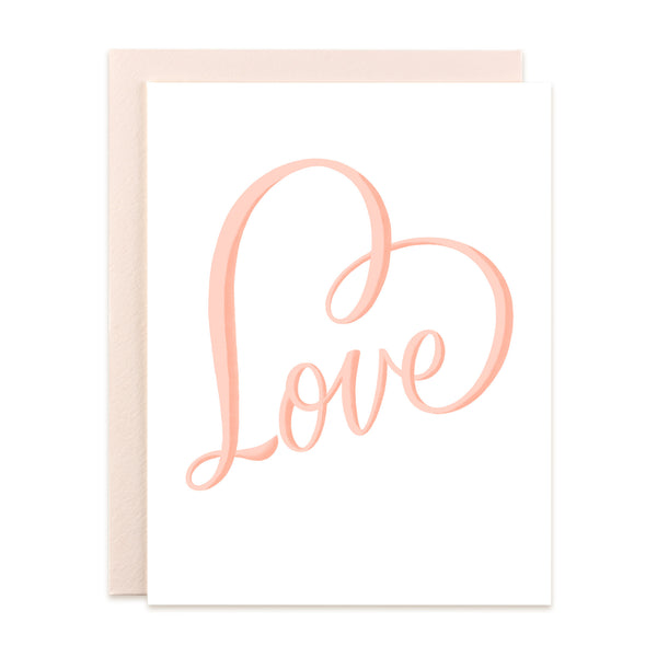Love Beveled Card