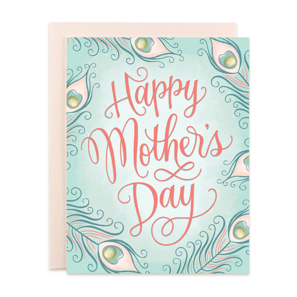Happy Mother's Day - Peacock Feathers Card