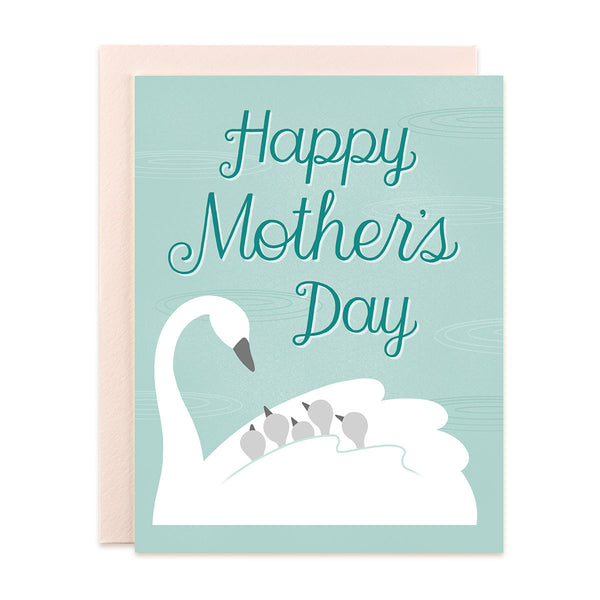 Happy Mother's Day Swans Card