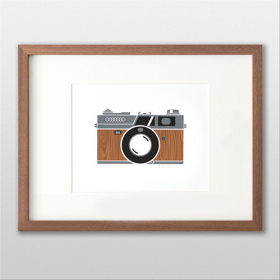 Rangefinder Camera - Wood Grain