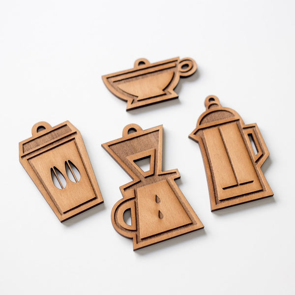 Coffee Ornaments Set