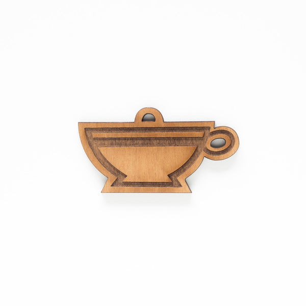 Ceramic Coffee Cup Single Ornament