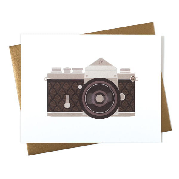 Camera Art Deco SLR Greeting Card