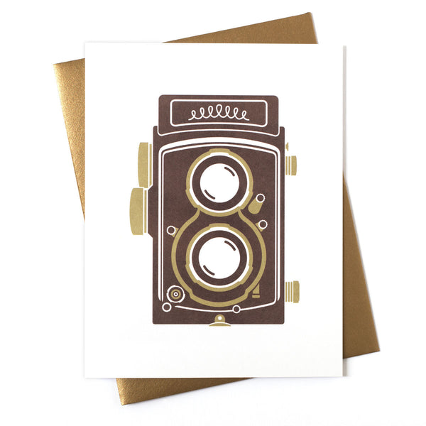 Camera TLR Greeting Card