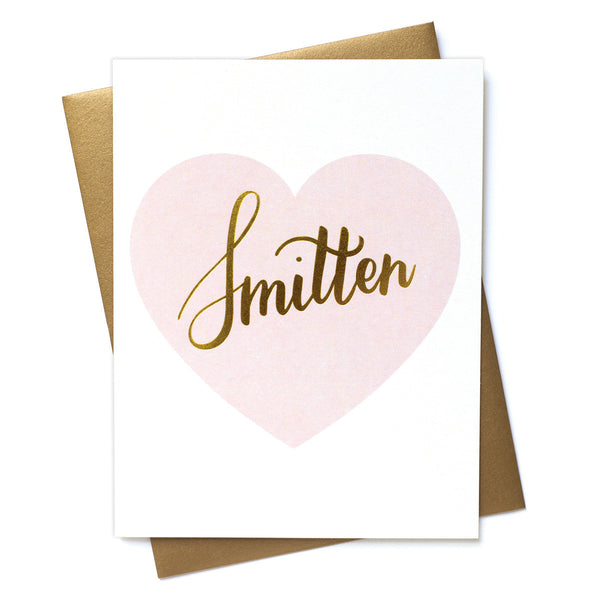Smitten Greeting Card with Gold Foil