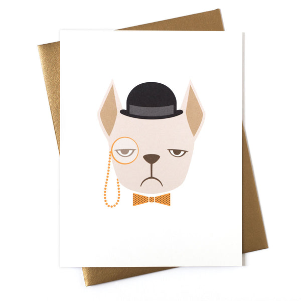 Frenchie Blondie Greeting Card