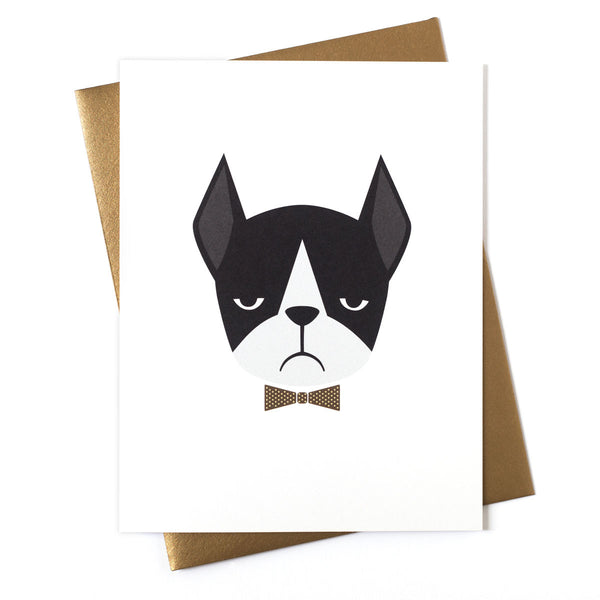 Frenchie Boston Greeting Card