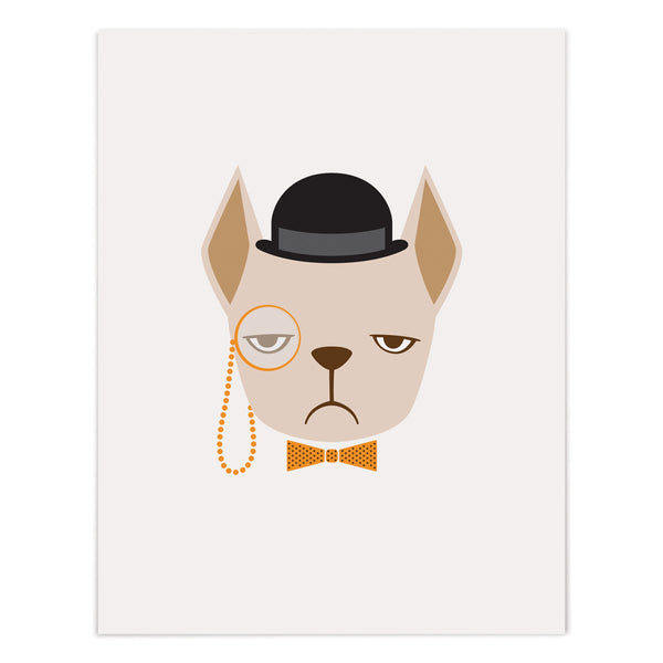 Highbrow Blonde Frenchie Art Giclee Print