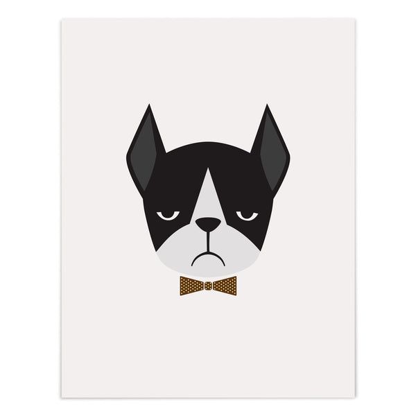 Boston Frenchie Art Giclee Print