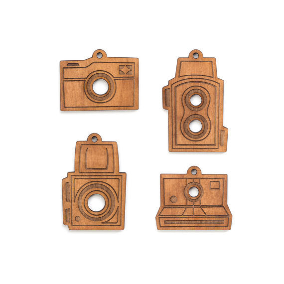 Vintage Camera Ornaments Set