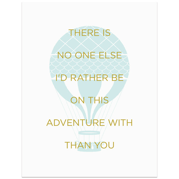 No One Else Adventure Art Print