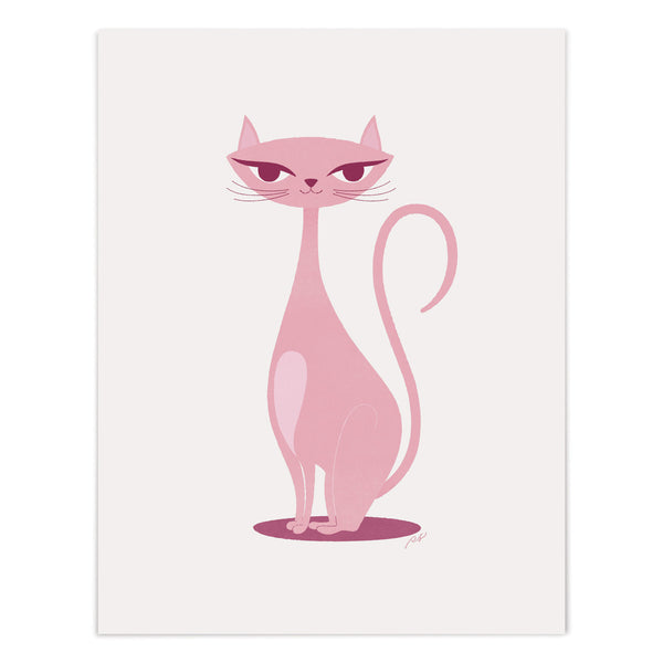 Pink Kitty Art Giclee Print