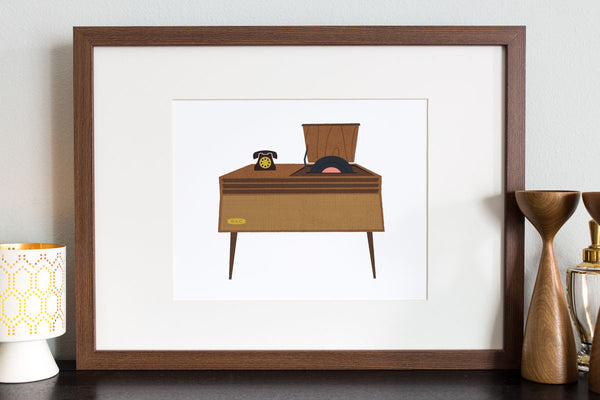 Record Player - Top Loading Art Print