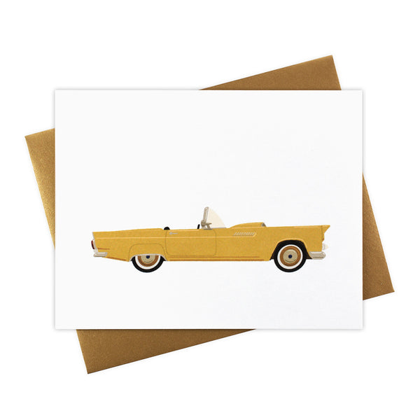 Megan - Classic Convertible in Mustard - Blank Card